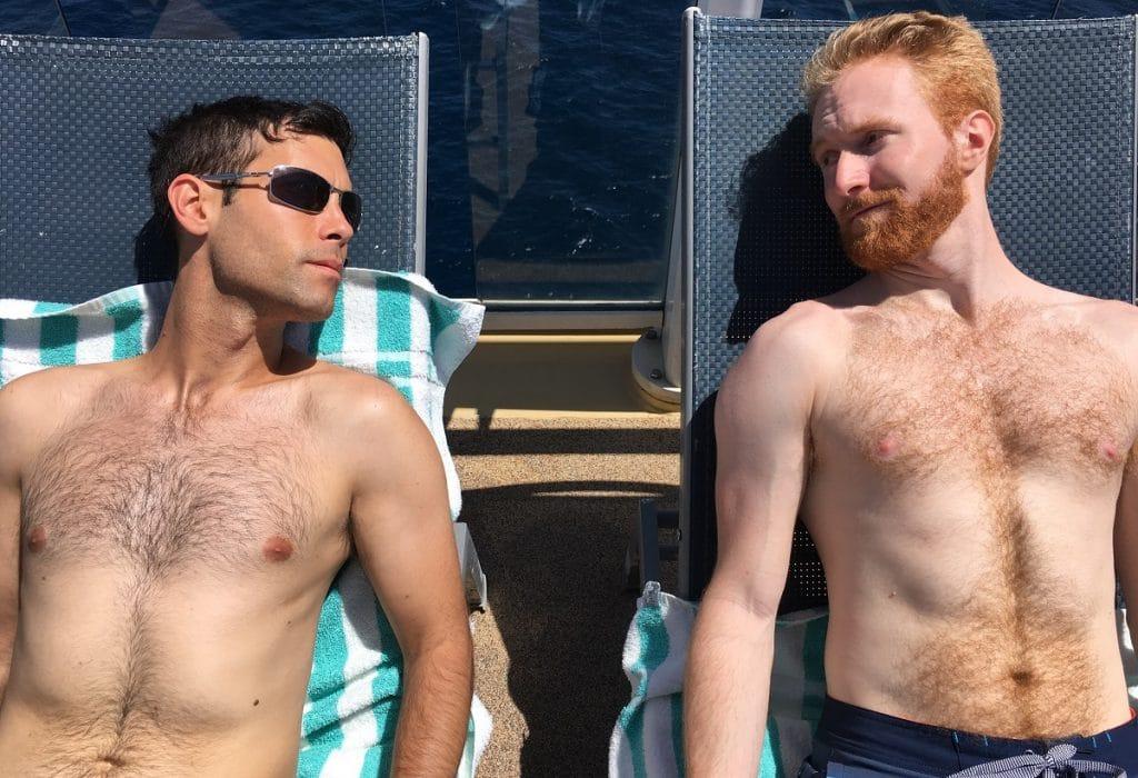 gay couple love stare